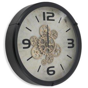 Industrielles Uhr Schwarz