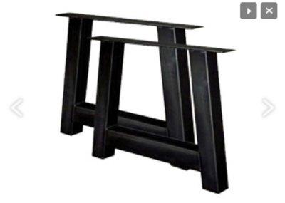 Tischbeine model A stahl